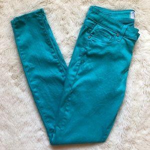 Paige Verdugo Ultra Skinny Bright Blue Jeans Sz 29